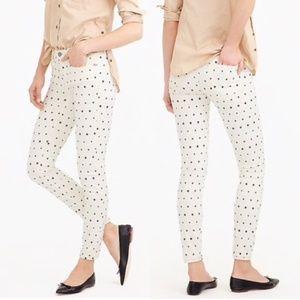 J CREW Toothpick Star Print Skinny Jeans Size 26